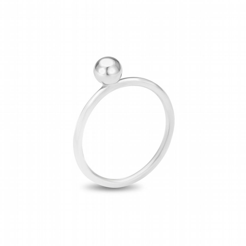 AMAI Jewellery - Mini Ball Ring - Silver